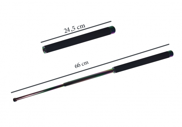 Baston telescopic 66 cm fade - rainbow - curcubeu 1