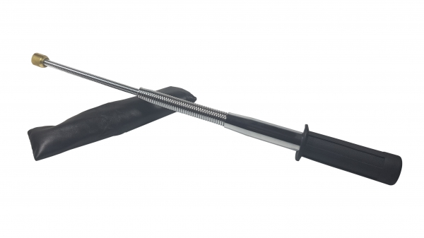 Baston telescopic flexibil maner cauciuc, 47 cm, argintiu 0