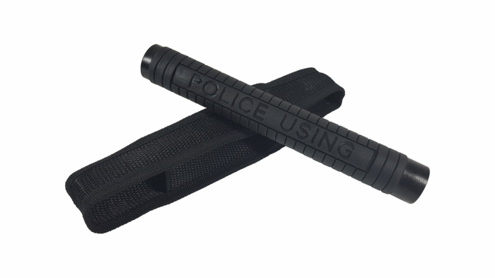 Baston telescopic Police 50 cm, negru, cadou spray NATO 60 ml [2]