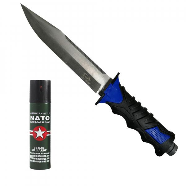 Cutit, Survival Camper, 35 cm, cadou spray NATO 60 ml 0