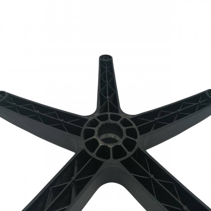 Baza pentru scaun directorial, plastic, 58 cm, neagra [5]
