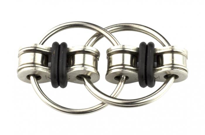 Jucarie antistres, inele infinite, metal, 5 cm [4]
