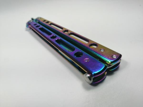 Cutit, Briceag fluture, Balisong, Butterfly 21.5 cm, Rainbow Classic 3