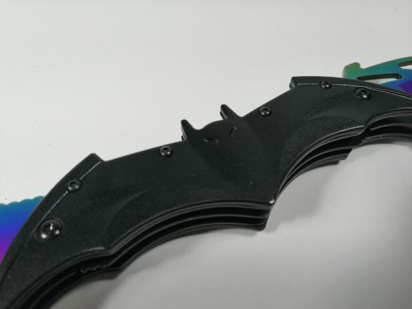 Briceag-cutit, doua taisuri, negru-multicolor, Fade Batman Style, 32 cm 1