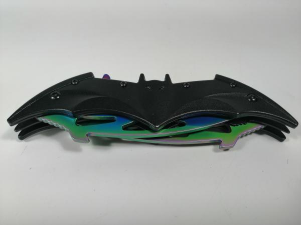 Briceag-cutit, doua taisuri, negru-multicolor, Fade Batman Style, 32 cm 3
