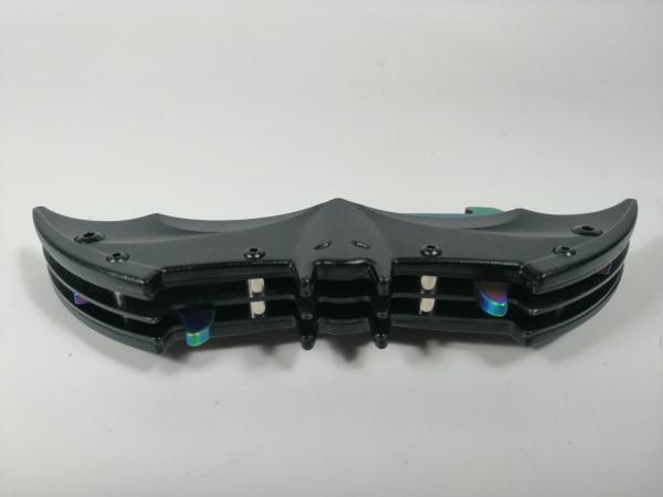 Briceag-cutit, doua taisuri, negru-multicolor, Fade Batman Style, 32 cm 4