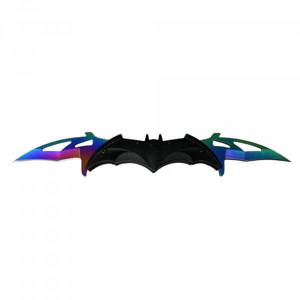 Briceag-cutit, doua taisuri, negru-multicolor, Fade Batman Style, 32 cm 0