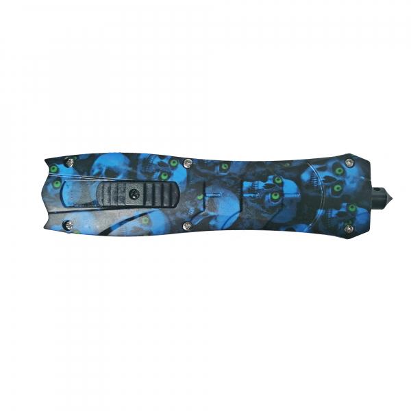 Briceag, PVC, Blue Skulls, 23.5 cm 1