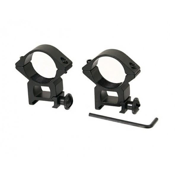Inele montura pentru lunete airsoft, 22 mm, metalice, negre 0