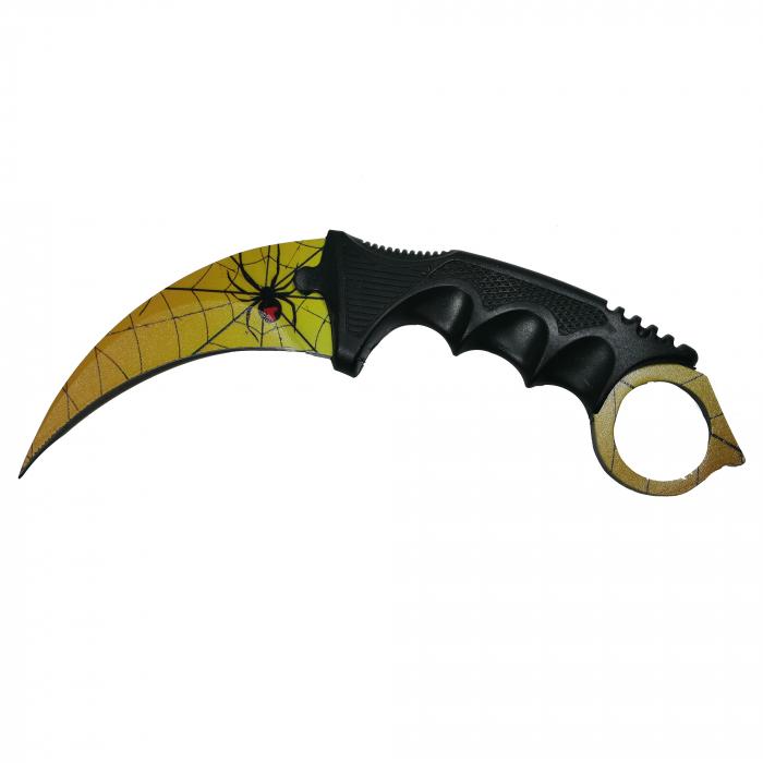 Cutit Karambit, auriu, Golden Spider, 18.5 cm [1]
