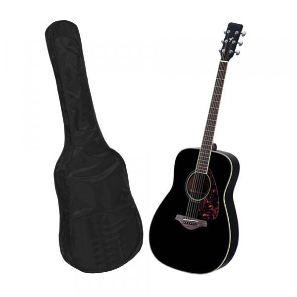 Set chitara clasica din lemn 95 cm, negru clasic, husa nylon si corzi acustice 1