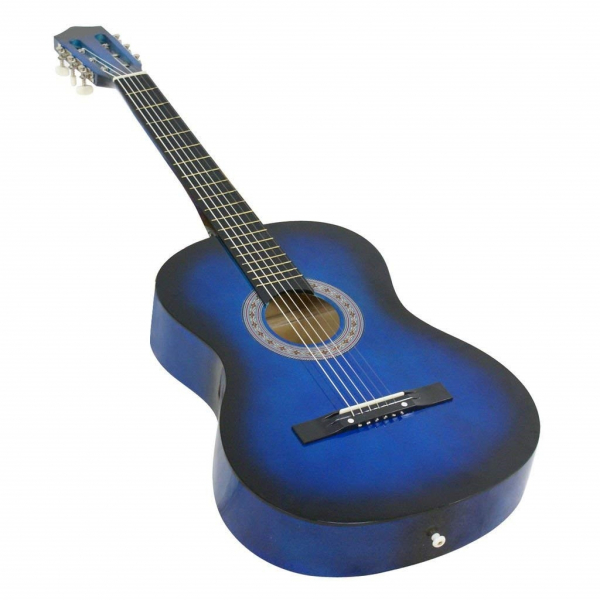 Chitara clasica din lemn 95 cm, albastru marin 1