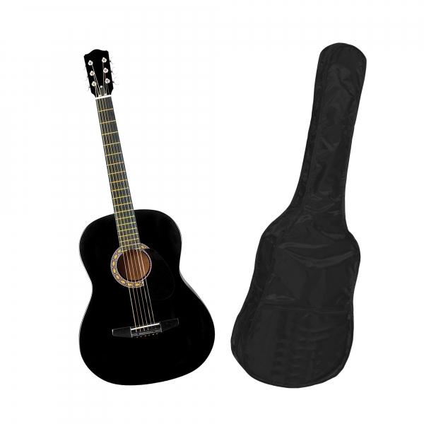 Chitara clasica din lemn 95 cm, clasic black, husa nylon cadou 0