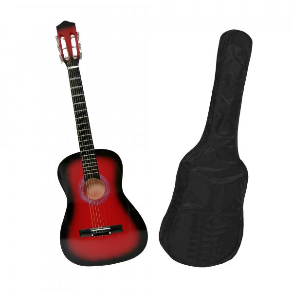 Chitara clasica din lemn 95 cm, clasic red, husa nylon cadou