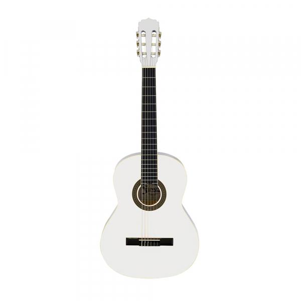 Chitara clasica din lemn 95 cm, Classic White, alb 0