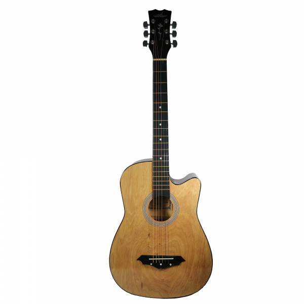 Chitara clasica din lemn 95 cm, Deluxe Edition, Cutaway Country Natur 0