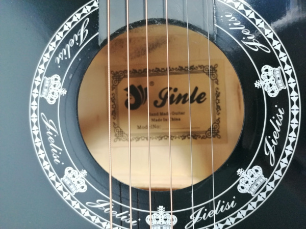 Chitara clasica din lemn 95 cm, Cutaway Country Black 5