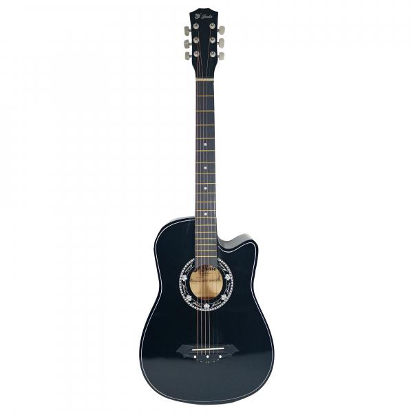 Chitara clasica din lemn 95 cm, Cutaway Country Black 0