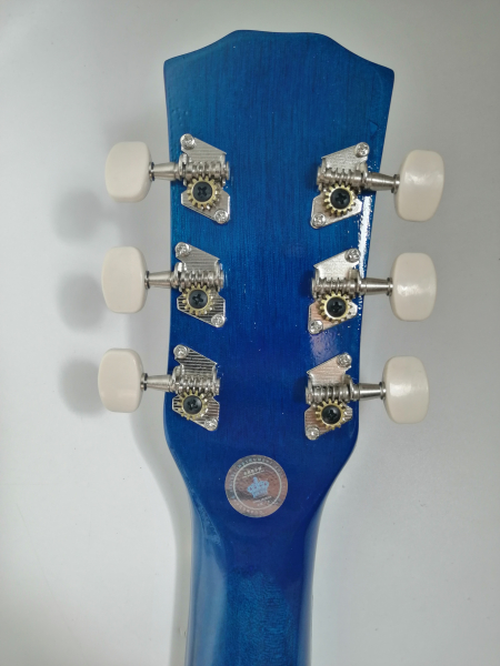 Chitara clasica din lemn 95 cm, Deluxe Edition, Cutaway Country Blue 2