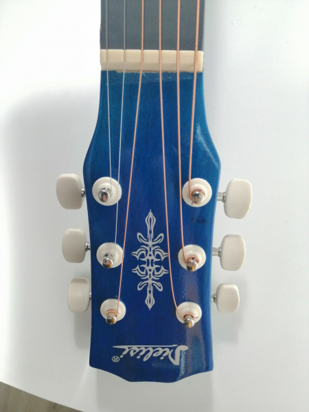 Chitara clasica din lemn 95 cm, Deluxe Edition, Cutaway Country Blue 3