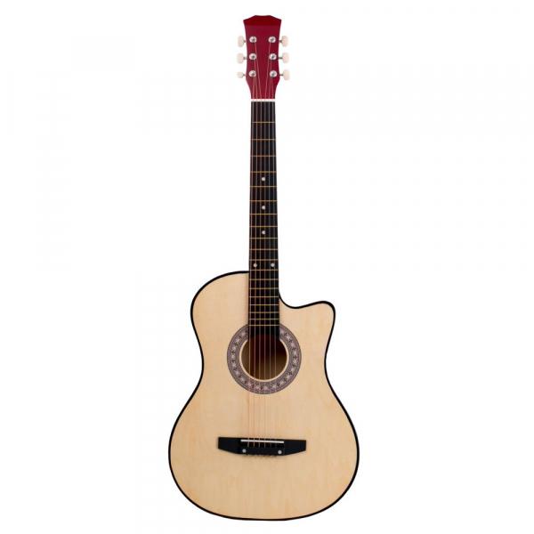Chitara clasica din lemn 95 cm, Cutaway natur 0