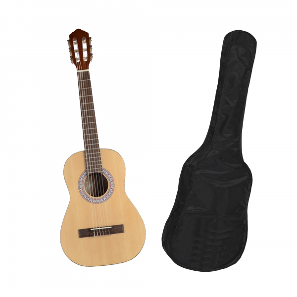 Chitara clasica din lemn 95 cm, natur clasic, husa nylon cadou 0