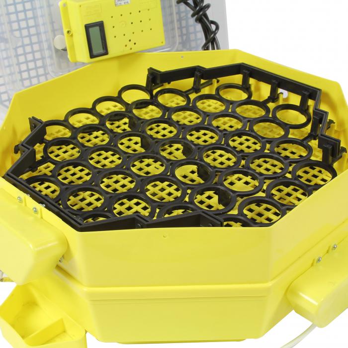 Incubator electric pentru oua cu dispozitiv dublu de intoarcere automat, termometru si hidrociclometru, Cleo, model 5X2-DTH [3]