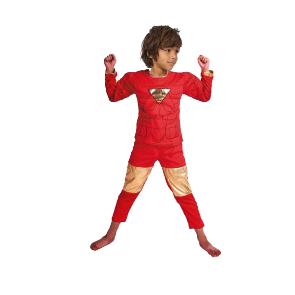 Costum Iron Man pentru copii, marime S, 3 - 5 ani, 100-110 cm, rosu 0