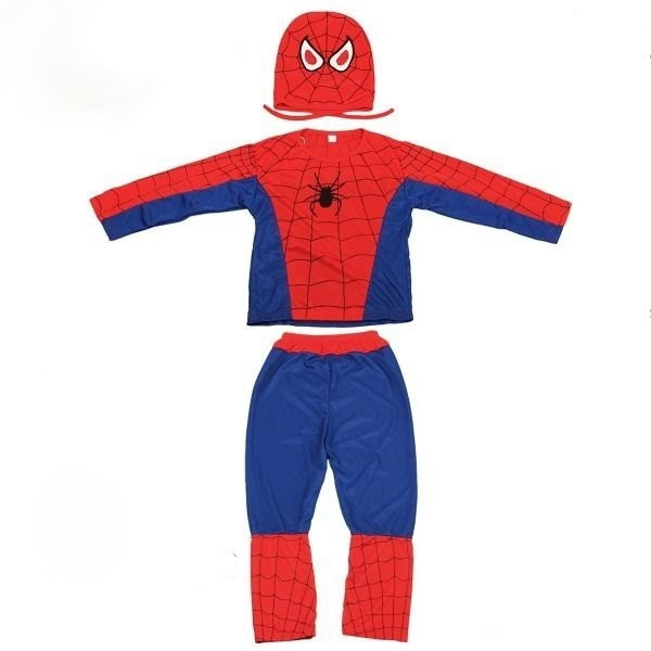 Set costum Spiderman clasic si masca LED [2]