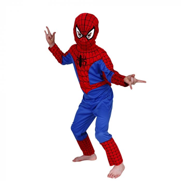 Set costum Spiderman, masca LED si manusa cu lansator [1]