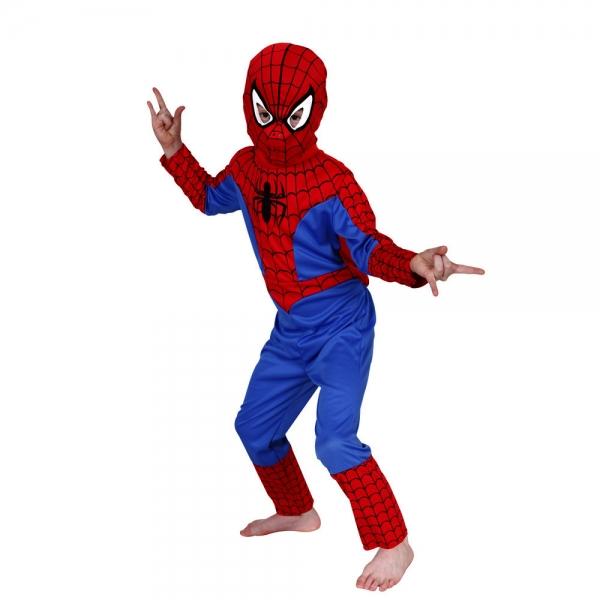 Costum Spiderman pentru copii marime M pentru 5 - 7 ani 0