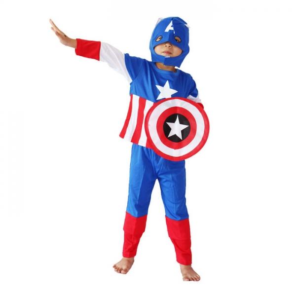 Costum Captain America pentru copii marime L pentru 7 - 9 ani 0