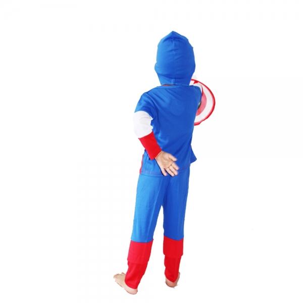Costum Captain America pentru copii marime L pentru 7 - 9 ani 1