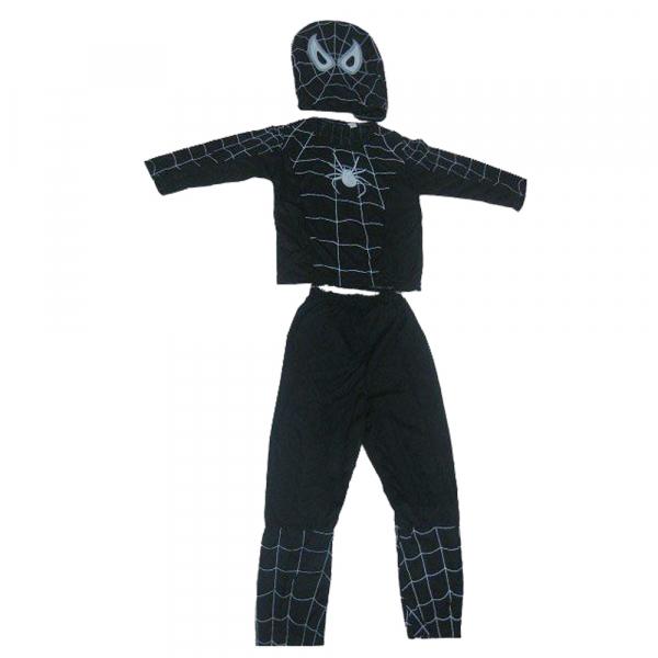 Costum Spiderman Negru pentru copii, marimea L, 7-9 ani 0