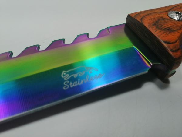 Cutit de vanatoare, Wood Rainbow, 33 cm, multicolor [3]