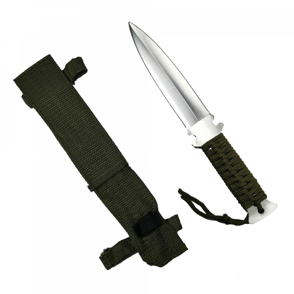 Cutit, otel inoxidabil, argintiu, Knife for the Jungle, 26 cm, teaca cadou 0