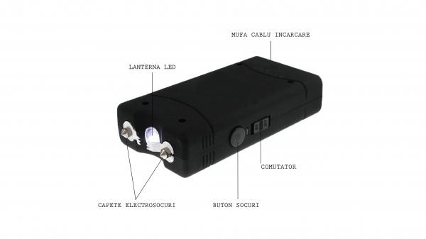 Mini electrosoc cu lanterna, 800 T 4