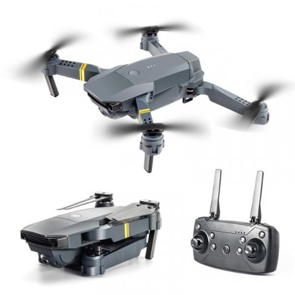 Drona micro pliabila, camera 720p, wi-fi, 2.4 gHz, neagra 1