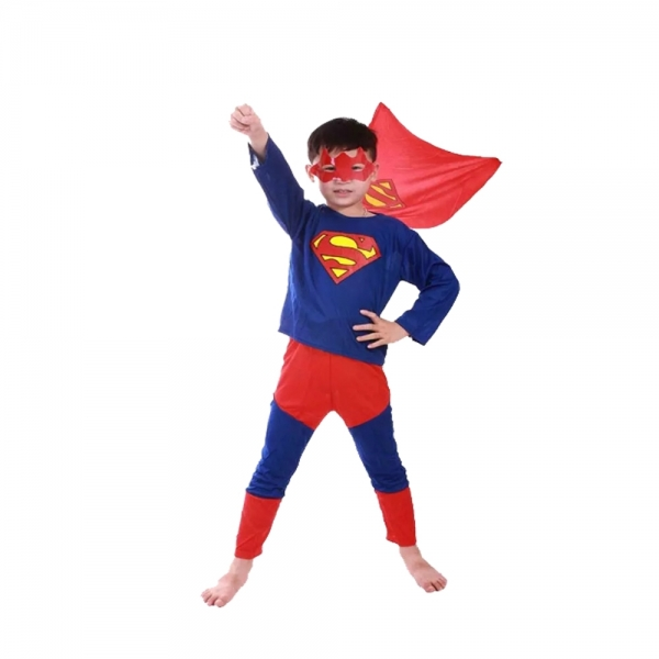 Costum Superman pentru copii marime L, 7 - 9 ani 0