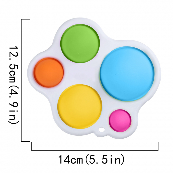 Jucarie antistres, Mega Popit, asimetrica, 14 cm, multicolor [3]