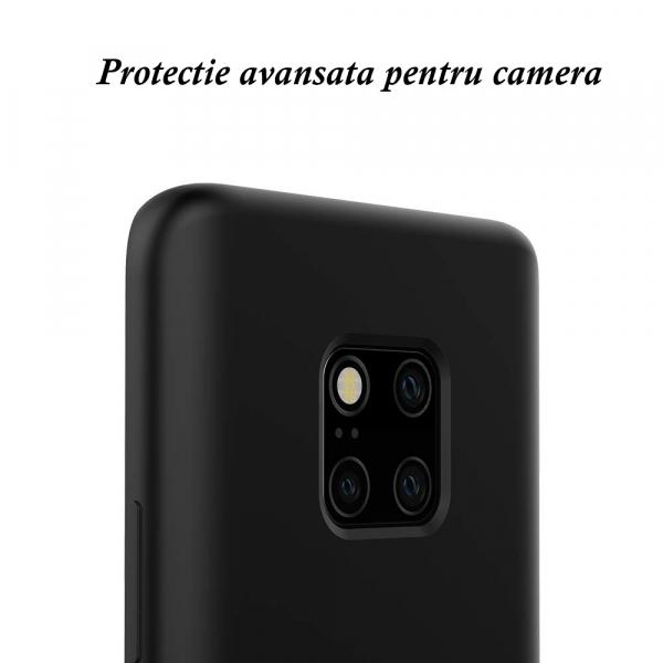 Husa pentru Huawei Mate20 Pro, Black Slim, Liquid Silicone 7
