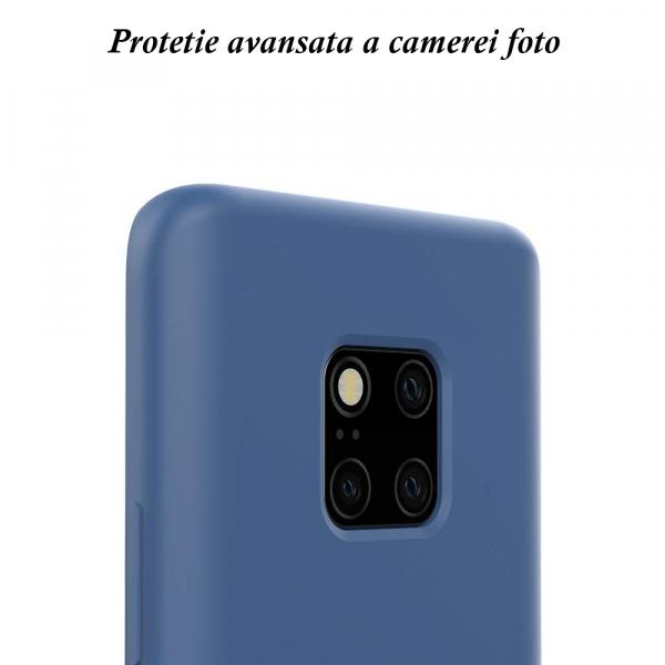 Husa pentru Huawei Mate20 Pro, Blue Slim, Liquid Silicone 2