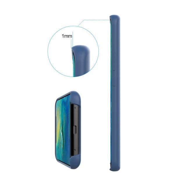 Husa pentru Huawei Mate20 Pro, Blue Slim, Liquid Silicone 3