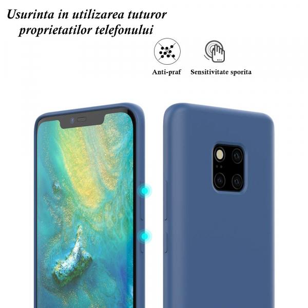 Husa pentru Huawei Mate20 Pro, Blue Slim, Liquid Silicone 7