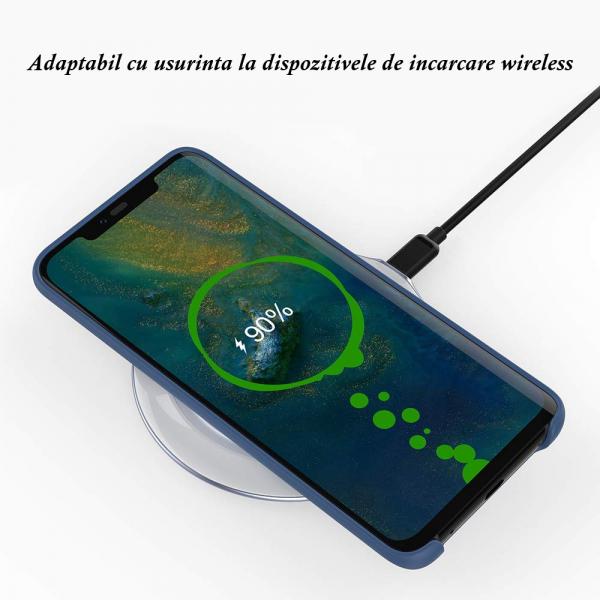 Husa pentru Huawei Mate20 Pro, Blue Slim, Liquid Silicone 4