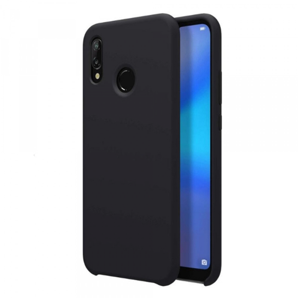 Husa pentru Huawei P20 Lite, Black Slim, Liquid Silicone 0