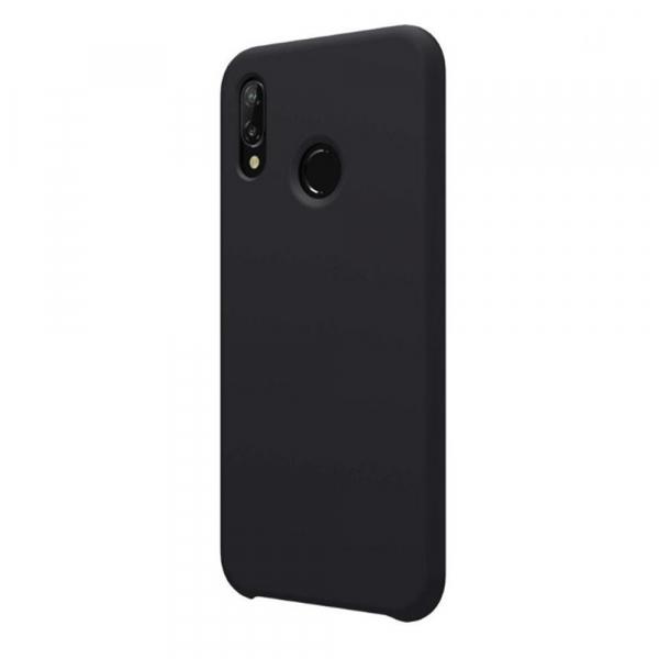 Husa pentru Huawei P20 Lite, Black Slim, Liquid Silicone 2