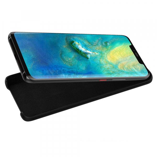Husa pentru Huawei Mate20 Pro, Black Slim, Liquid Silicone 5