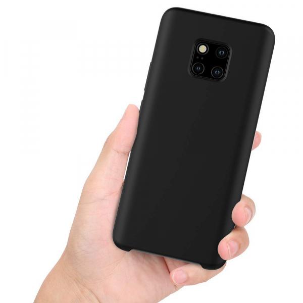 Husa pentru Huawei Mate20 Pro, Black Slim, Liquid Silicone 3