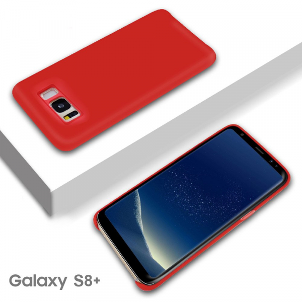 Husa pentru Samsung Galaxy S8 Plus, Red Slim, Liquid Silicone 6